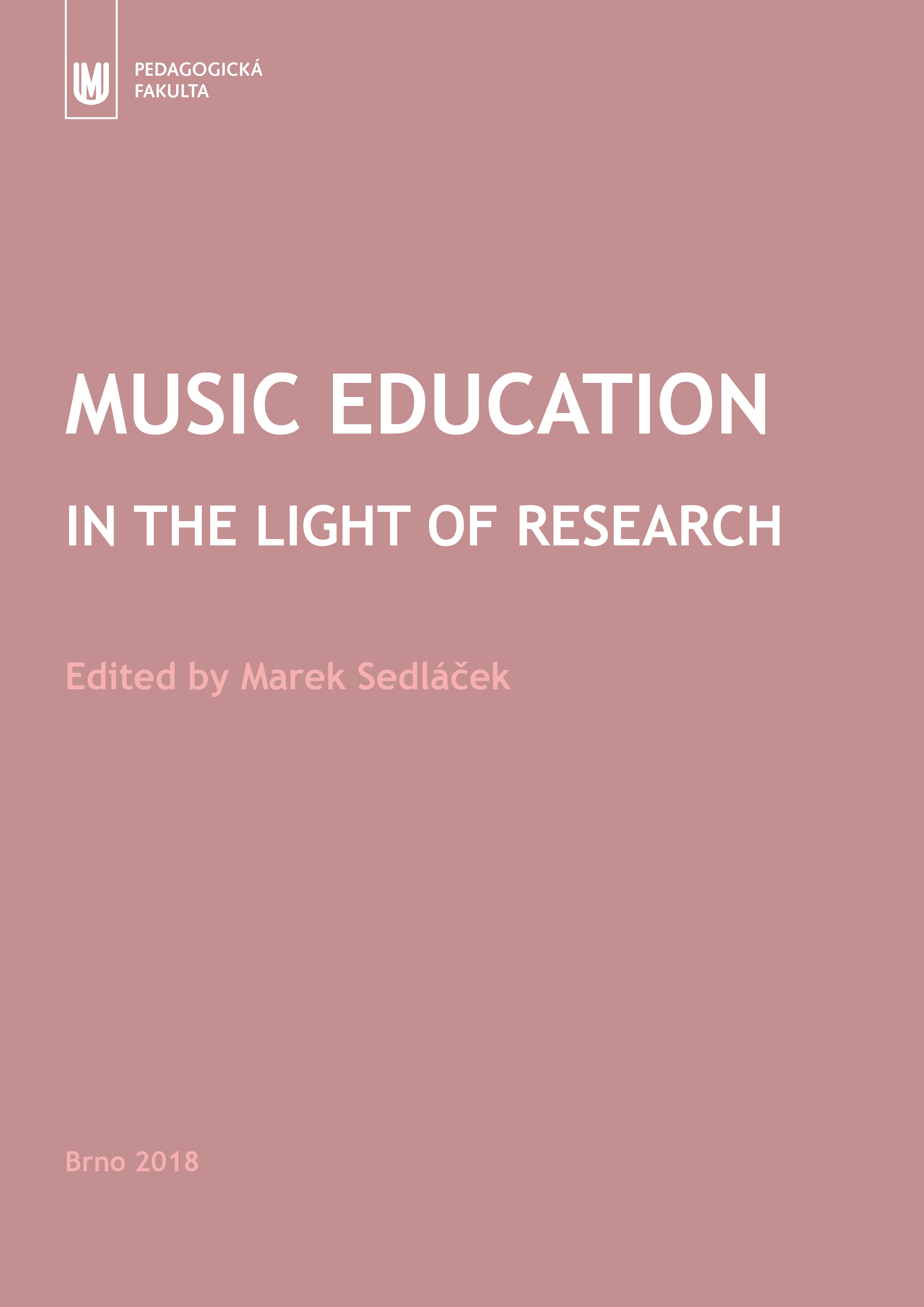 Obálka pro Music Education in the Light of Research