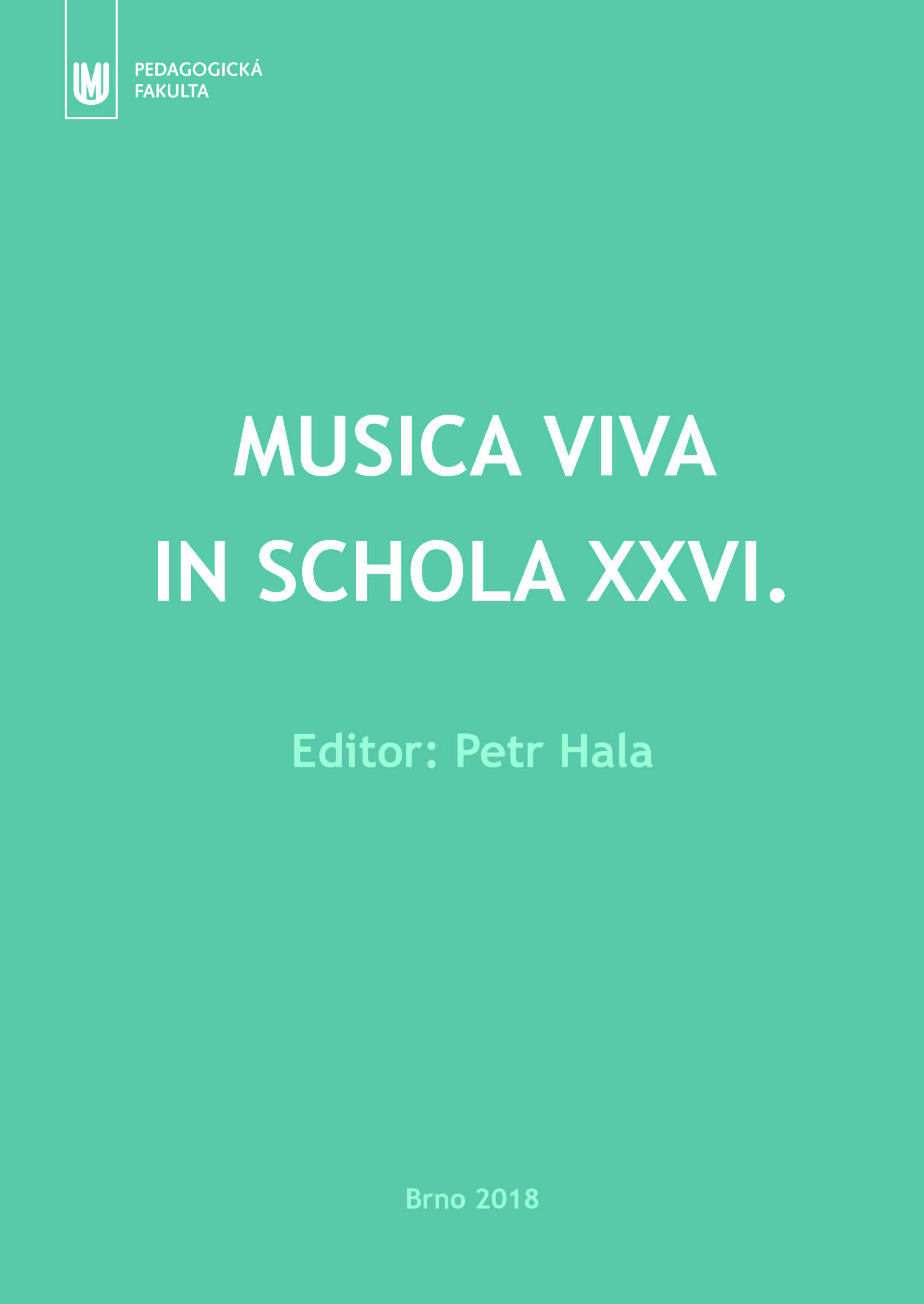 Obálka pro Musica viva in schola XXVI.