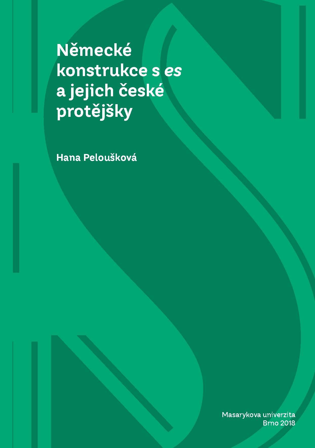 Obálka pro Německé konstrukce s es a jejich české protějšky