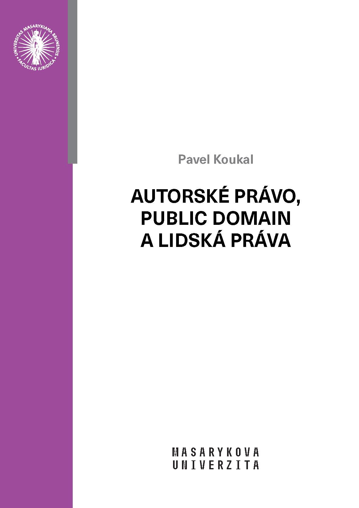 Obálka pro Autorské právo, public domain a lidská práva