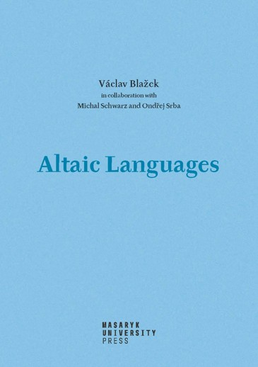 Obálka pro Altaic Languages. History of research, survey, classification and a sketch of comparative grammar