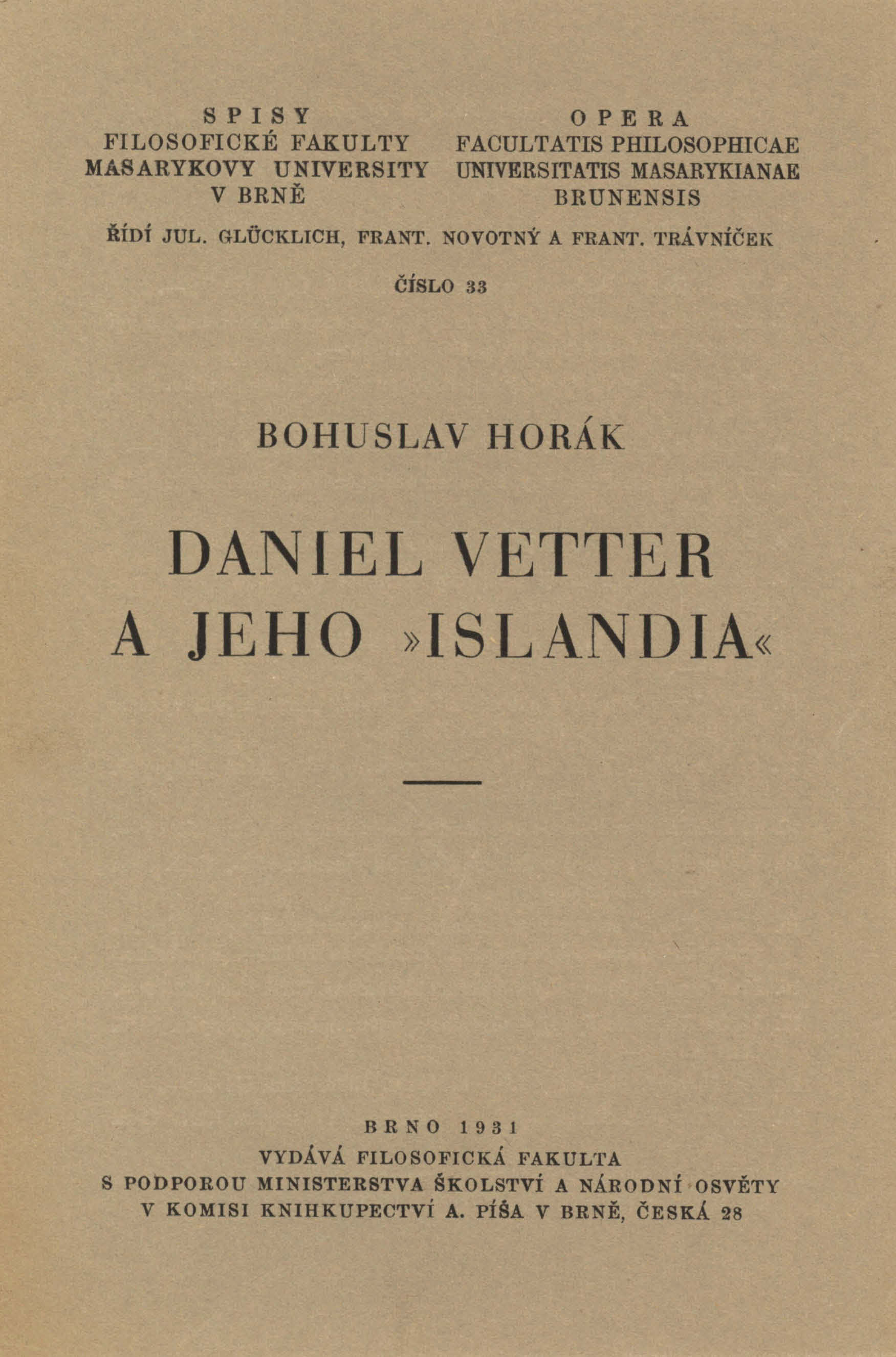 "Obálka pro Daniel Vetter a jeho ""Islandia"""