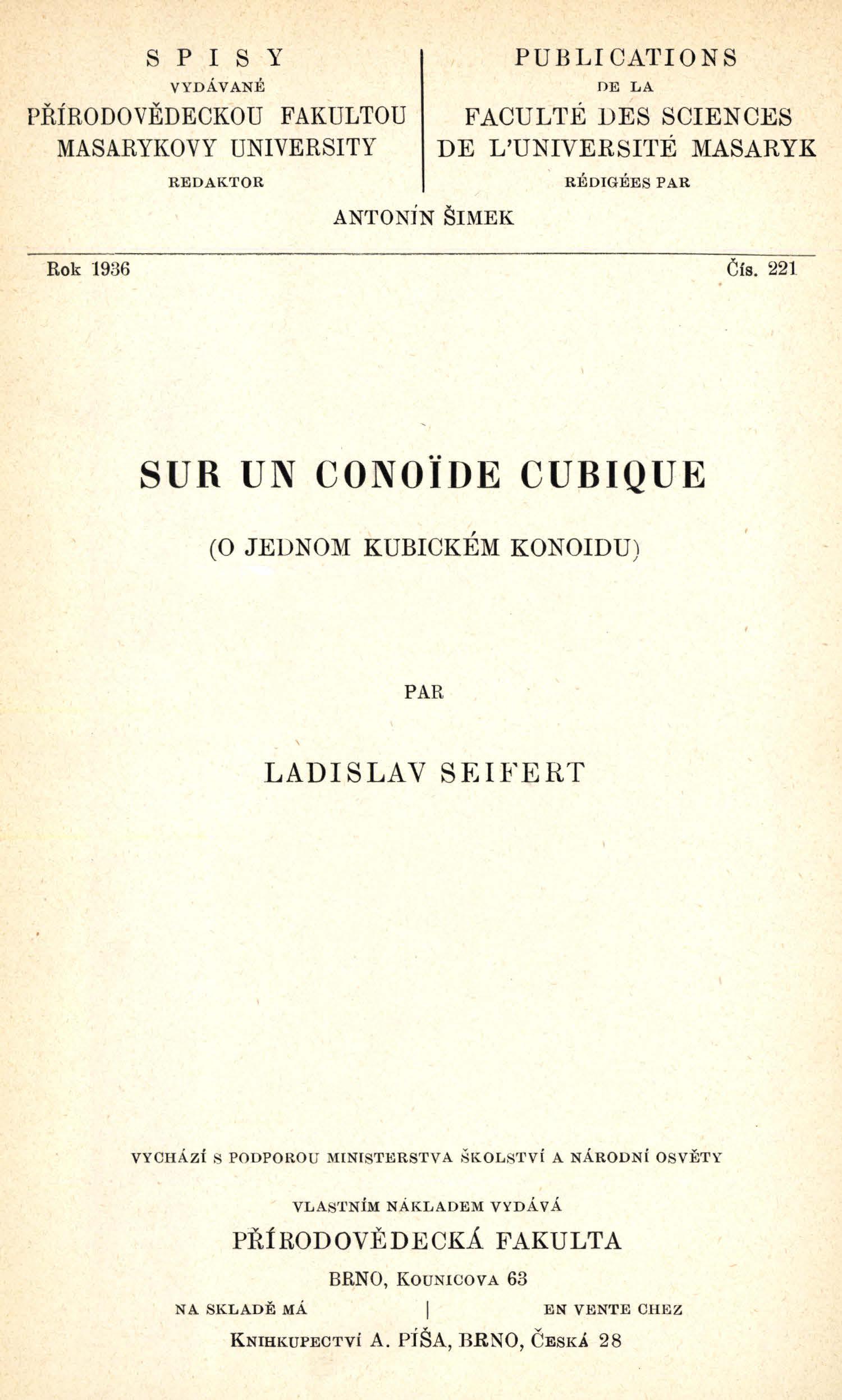 Obálka pro Sur un conoïde cubique