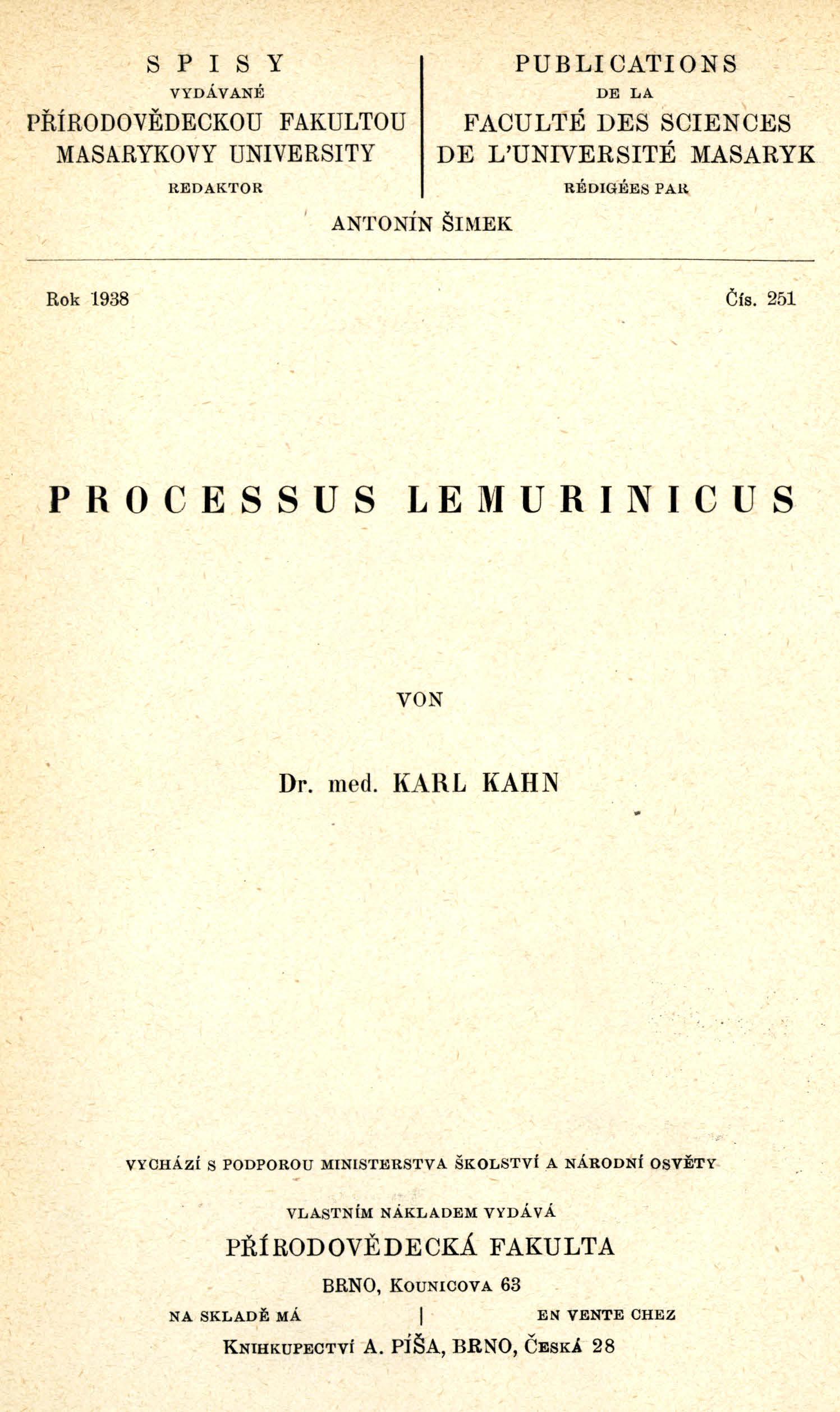 Obálka pro Processus lemurinicus