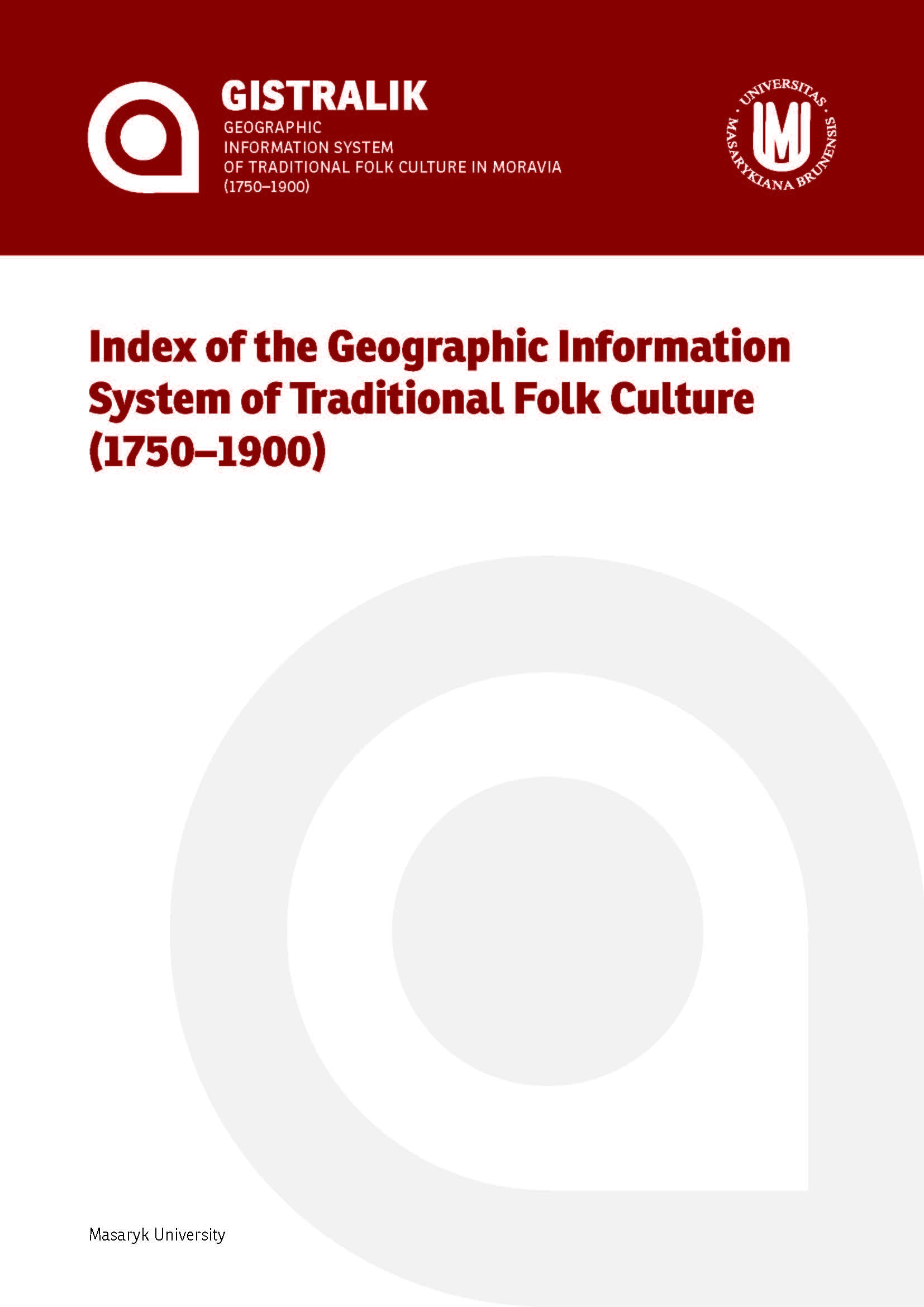 Obálka pro Index of the Geographic Information System of Traditional Folk Culture (1750–1900)