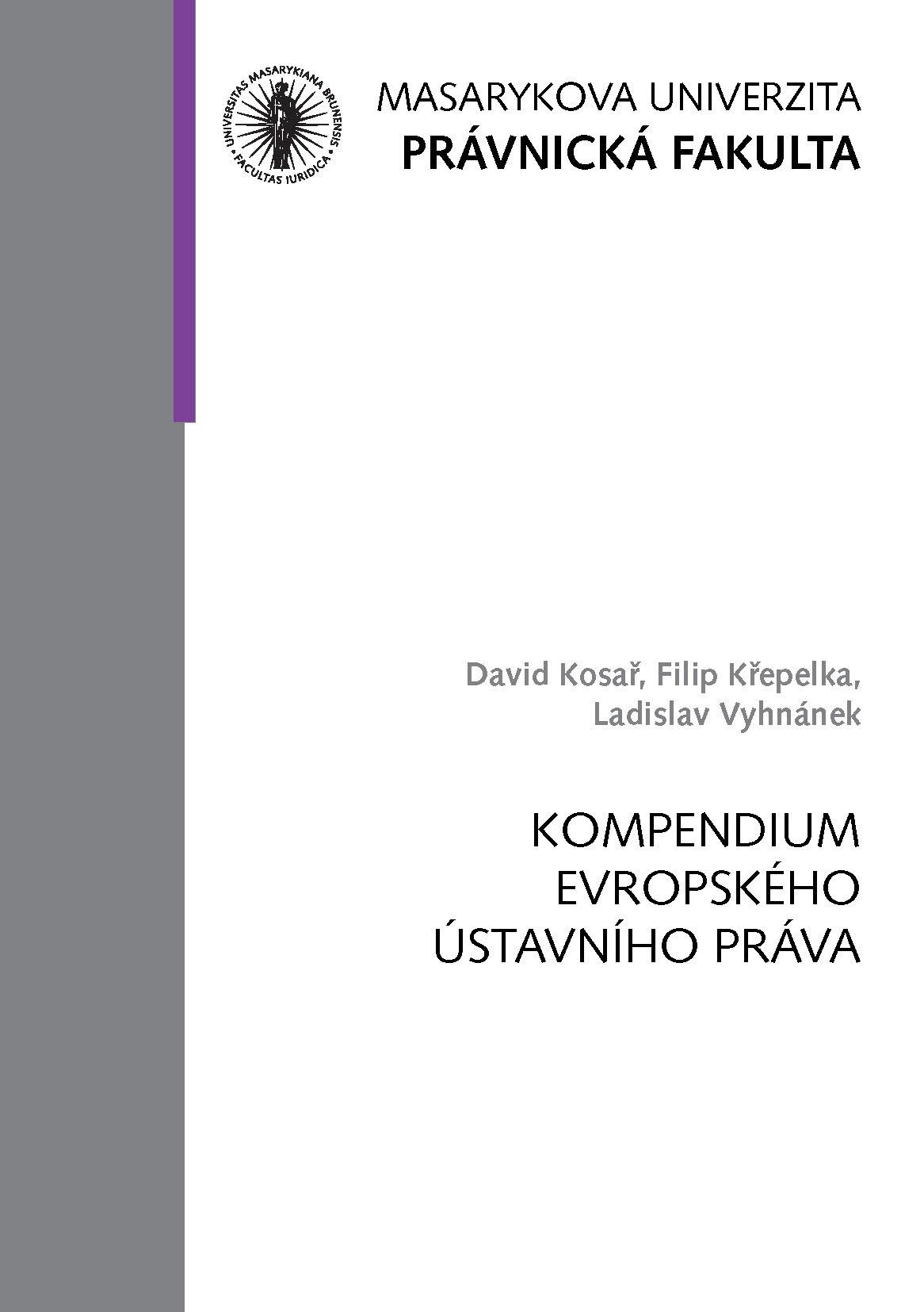 Obálka pro Kompendium evropského ústavního práva
