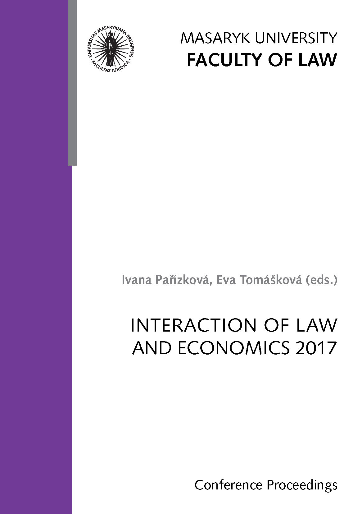 Obálka pro Interaction of Law and Economics 2017. Conference Proceedings
