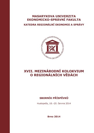 Obálka pro XVII. Mezinárodní kolokvium o regionálních vědách. Sborník příspěvků. Hustopeče, 18.–20. června 2014