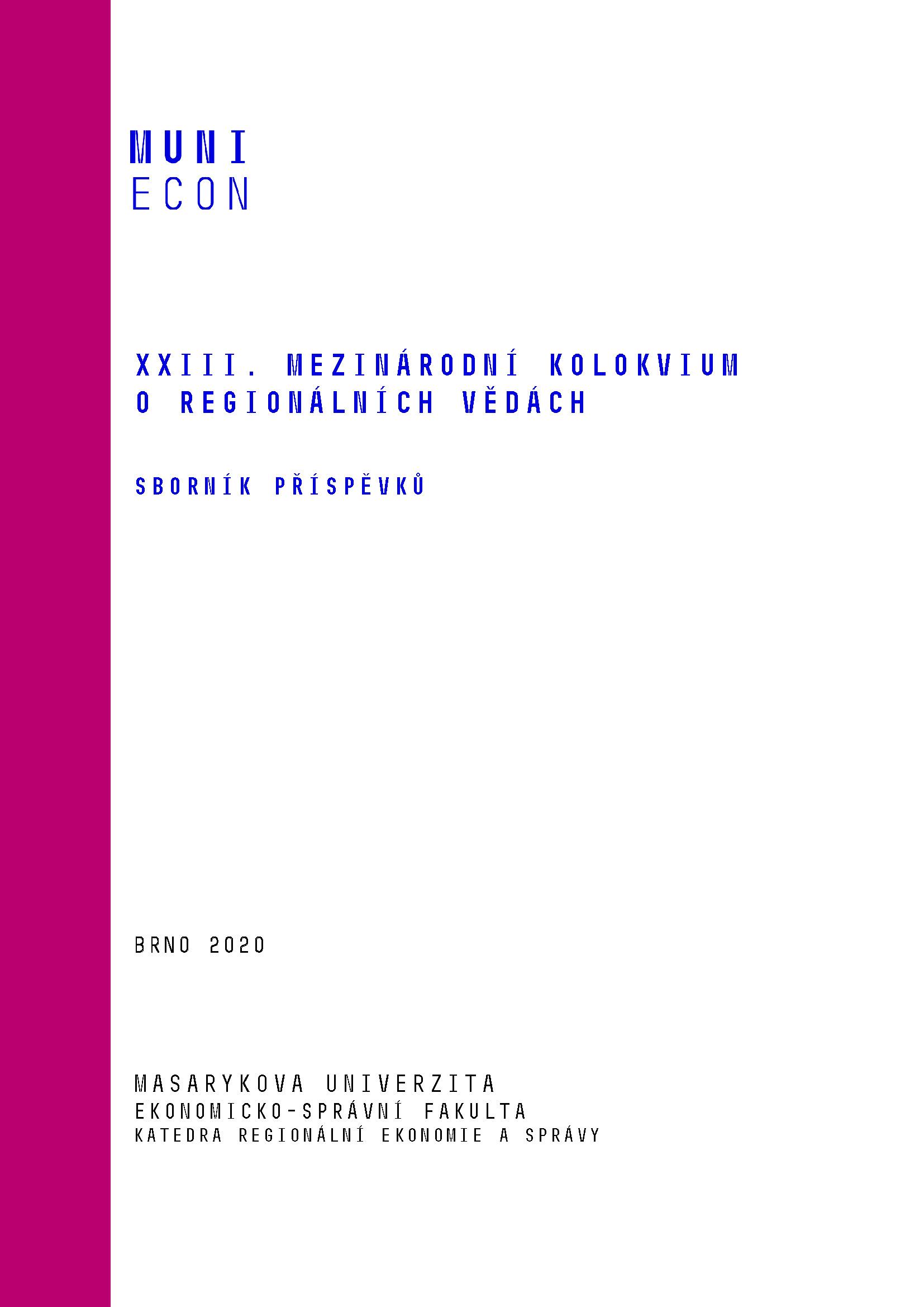 Obálka pro XXIII. mezinárodní kolokvium o regionálních vědách. Sborník příspěvků