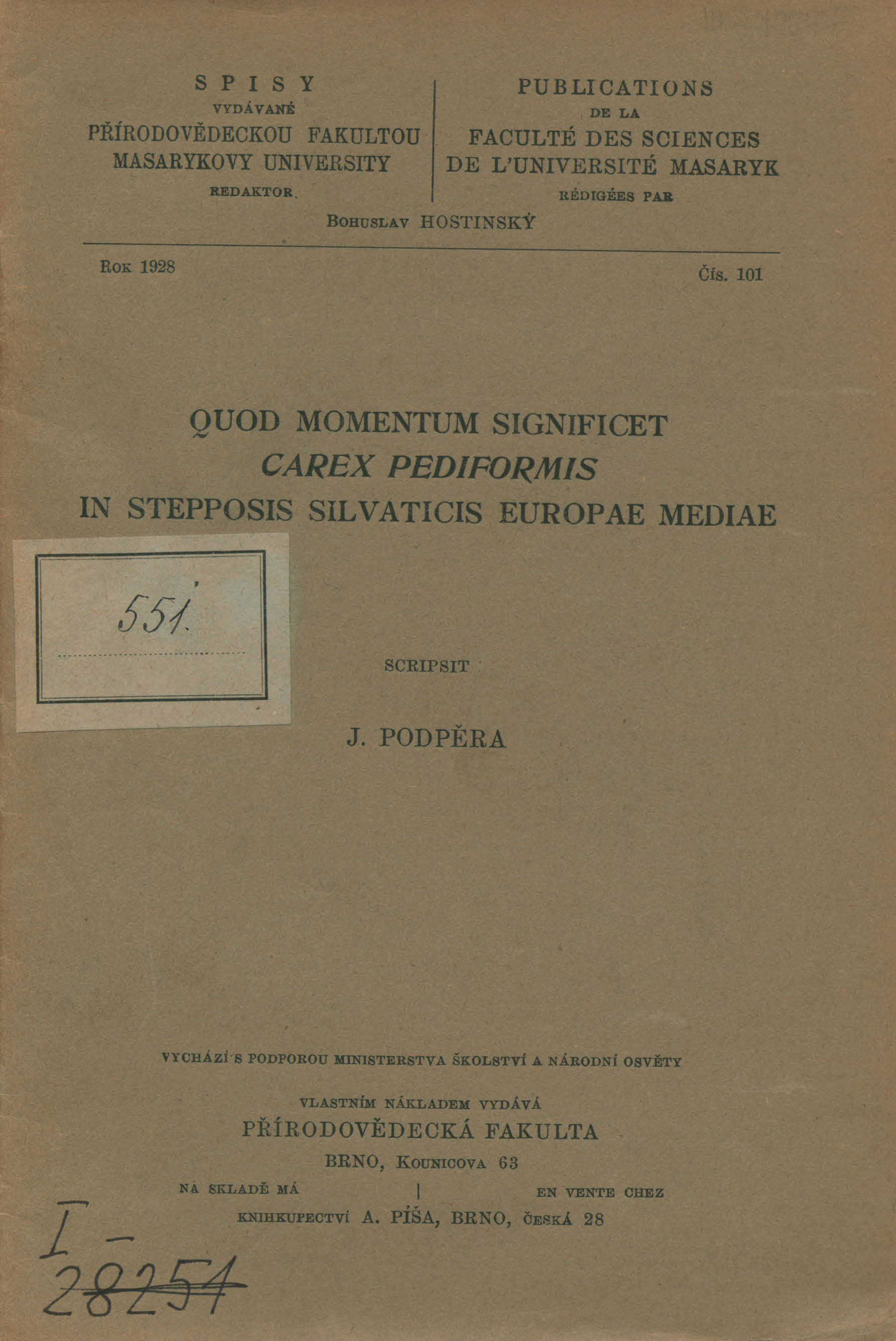 Obálka pro Quod momentum significet Carex pediformis in stepposis silvaticis Europae mediae
