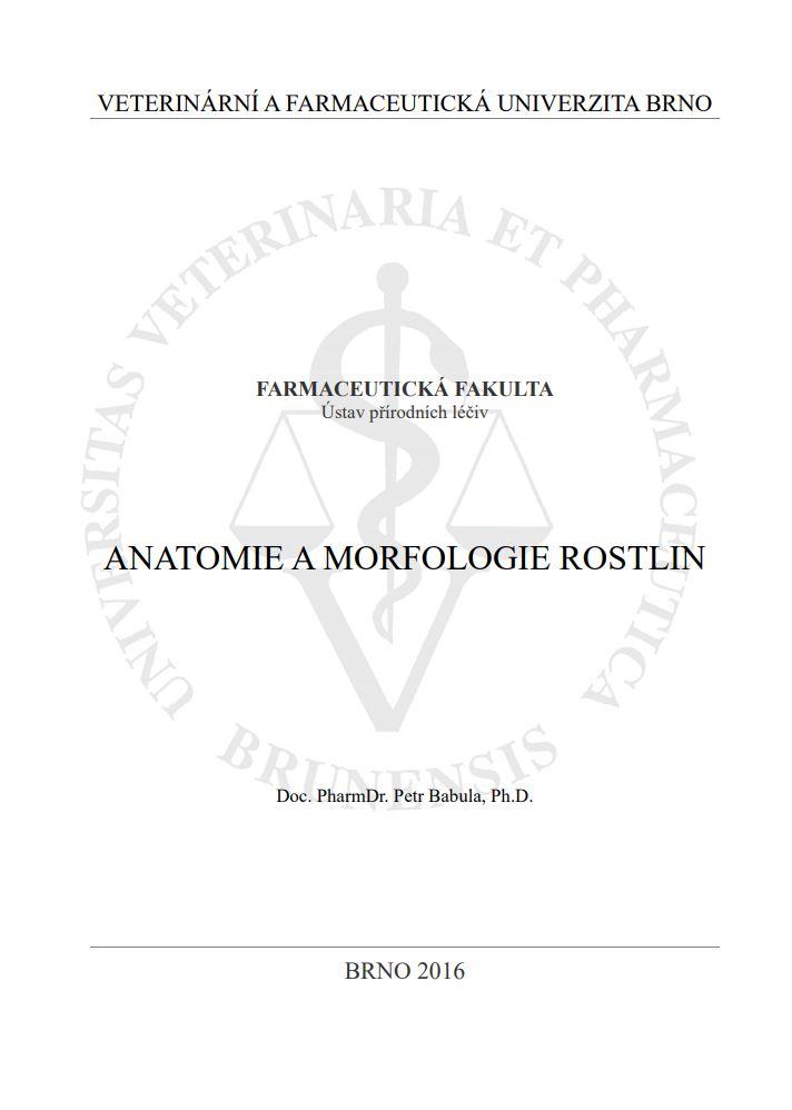 Obálka pro Anatomie a morfologie rostlin