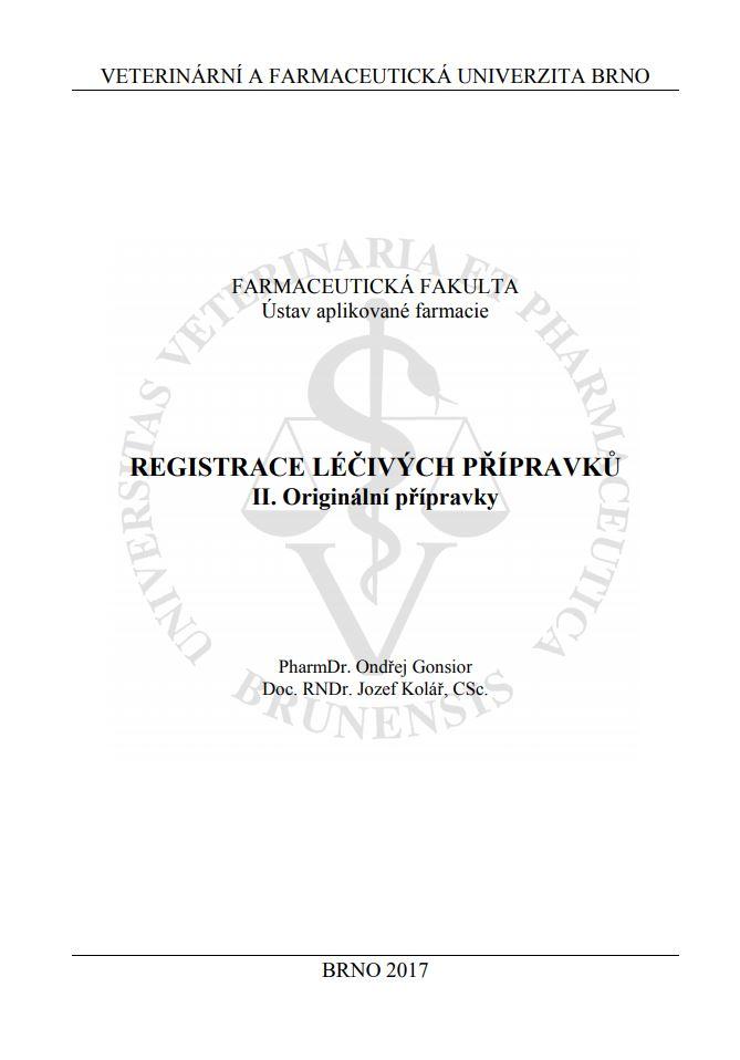 Obálka pro Registrace léčivých přípravků II.