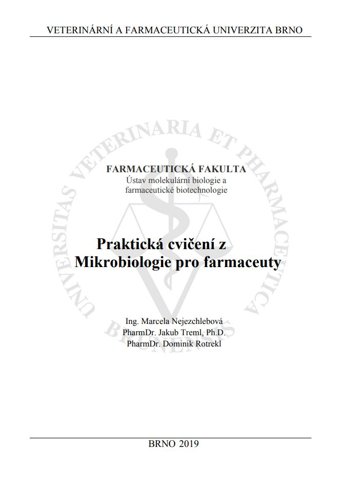 Obálka pro Praktická cvičení z mikrobiologie pro farmaceuty
