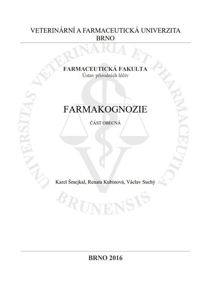 Obálka pro Farmakognozie