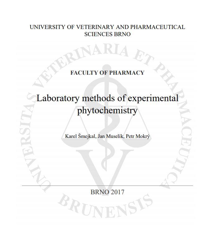 Obálka pro Laboratory methods of experimental phytochemistry