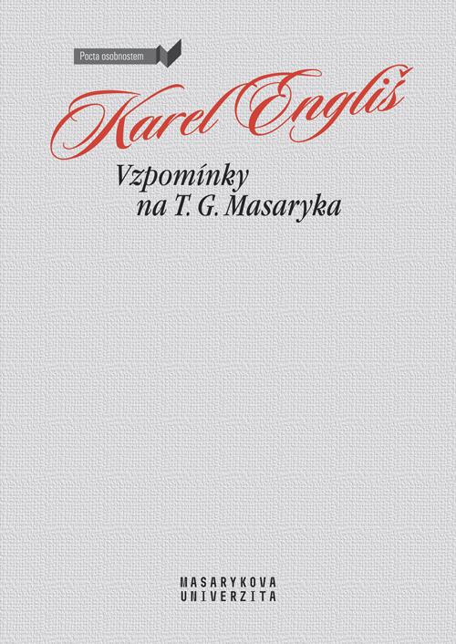 Obálka pro Vzpomínky na T. G. Masaryka