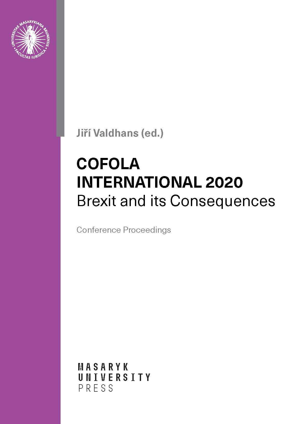 Obálka pro Cofola International 2020. Brexit and its Consequences
