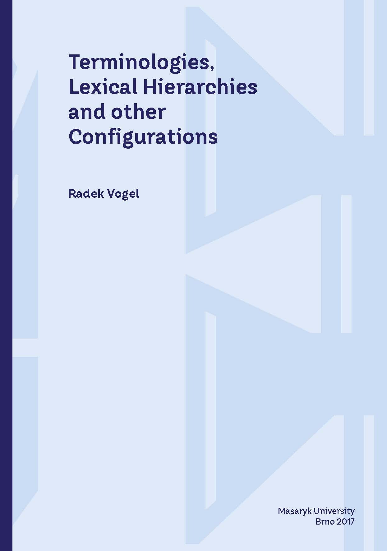 Obálka pro Terminologies, Lexical Hierarchies and other Configurations