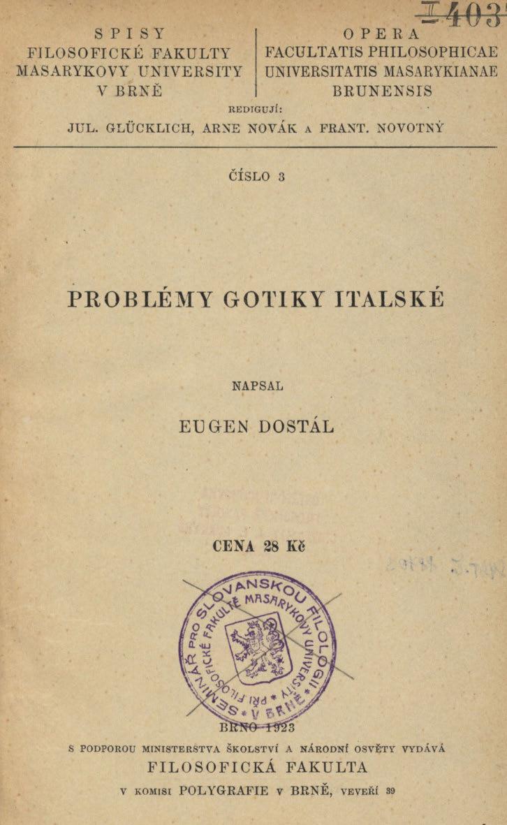 Obálka pro Problémy gotiky italské