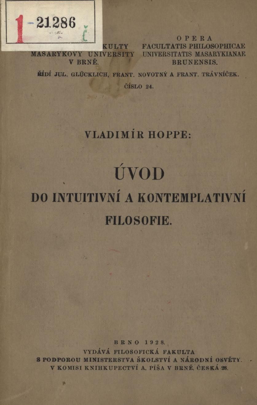 Obálka pro Úvod do intuitivní a kontemplativní filosofie