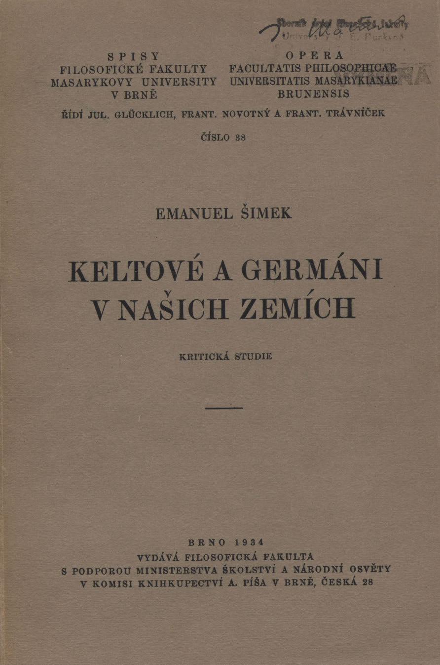 Obálka pro Keltové a Germáni v našich zemích : kritická studie