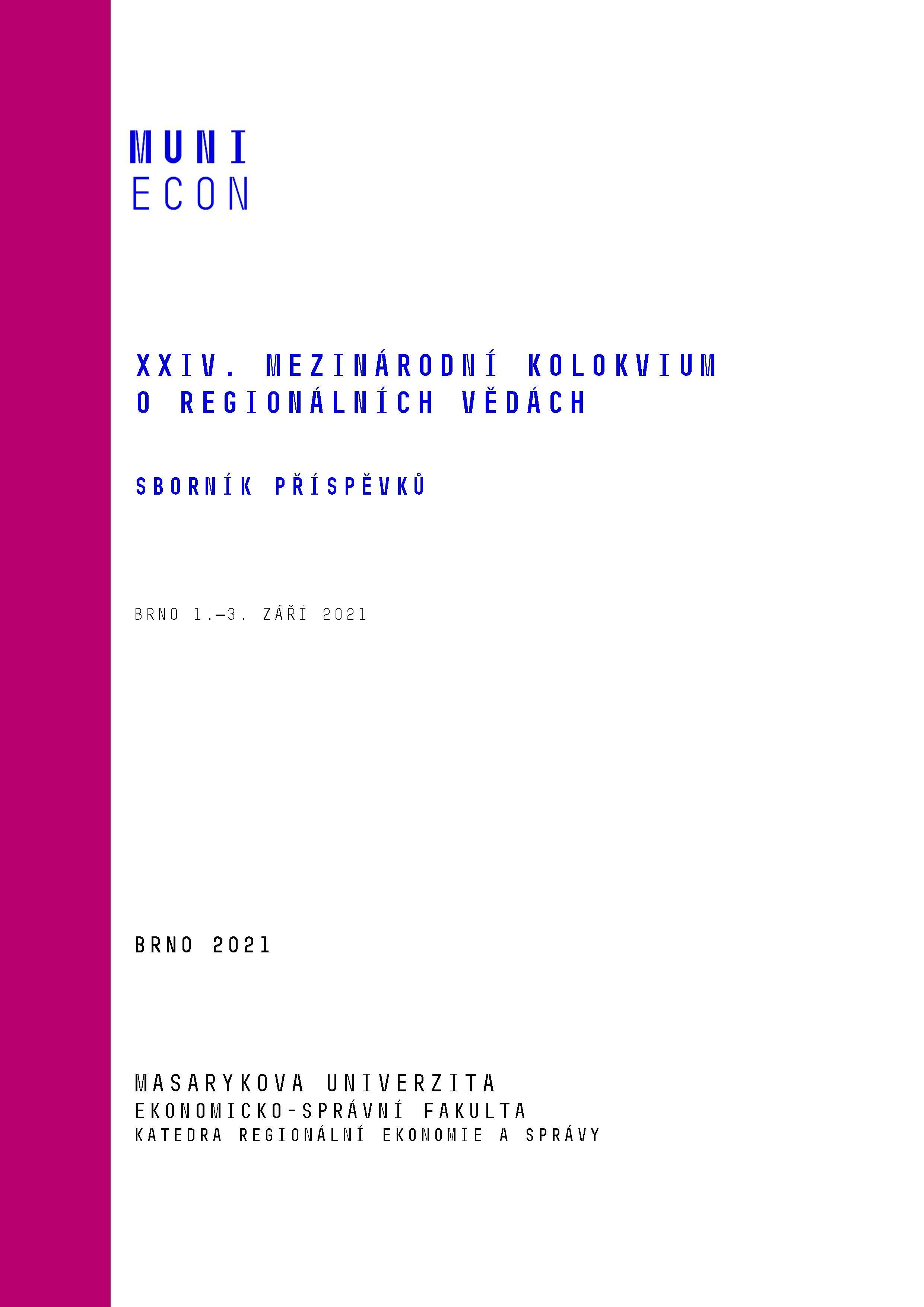 Obálka pro XXIV. mezinárodní kolokvium o regionálních vědách. Sborník příspěvků