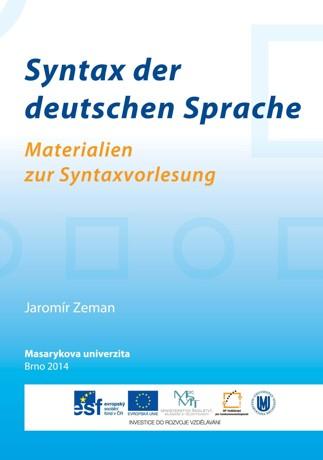 Obálka pro Syntax der deutschen Sprache. Materialien zur Syntaxvorlesung