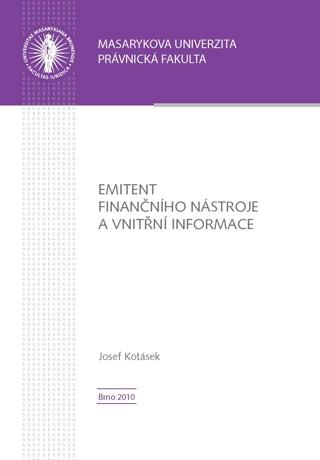 Obálka pro Emitent finančního nástroje a vnitřní informace