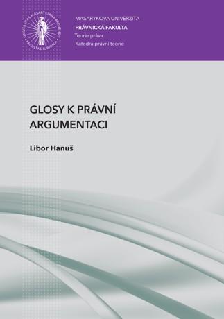 Obálka pro Glosy k právní argumentaci