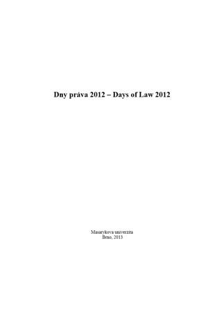 Obálka pro Dny práva 2012