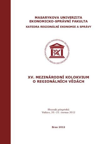 Obálka pro XV. Mezinárodní kolokvium o regionálních vědách. Sborník příspěvků. Valtice, 20.–22. června 2012