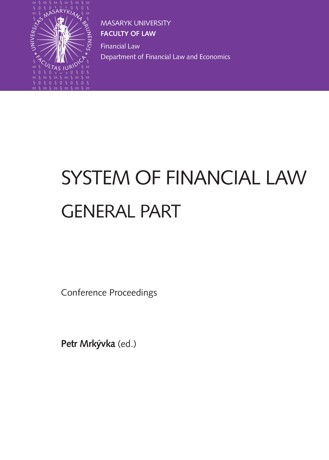 Obálka pro System of Financial Law – General Part. Conference Proceedings