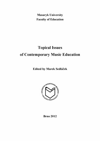 Obálka pro Topical Issues of Contemporary Music Education