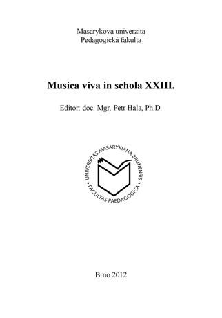 Obálka pro Musica viva in schola XXIII.