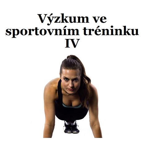 Obálka pro Výzkum ve sportovním tréninku IV