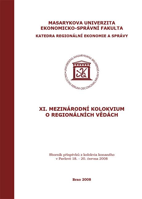 Obálka pro XI. Mezinárodní kolokvium o regionálních vědách. Sborník příspěvků z kolokvia konaného v Pavlově 18.–20. června 2008