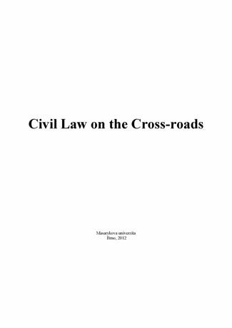 Obálka pro Dny práva 2011. Občanské právo na rozcestí