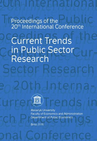 Obálka pro Current Trends in Public Sector Research. Proceedings of  the 20th International Conference Current Trends in Public Sector Research