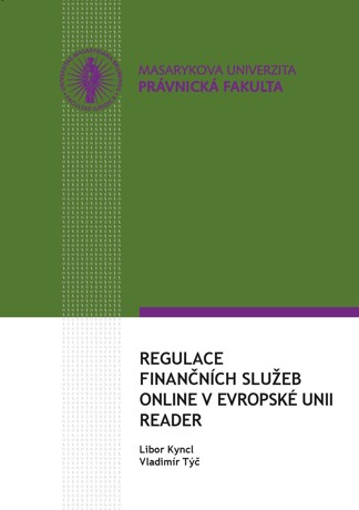 Obálka pro Regulace finančních služeb online v Evropské unii – reader