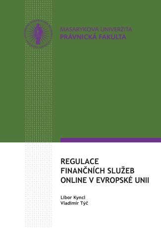 Obálka pro Regulace finančních služeb online v Evropské unii