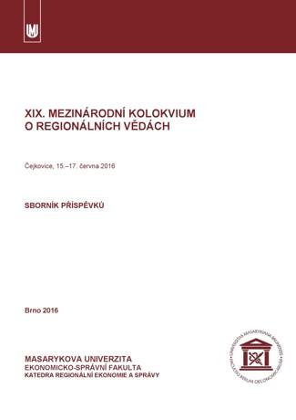 Obálka pro XIX. mezinárodní kolokvium o regionálních vědách. Sborník příspěvků