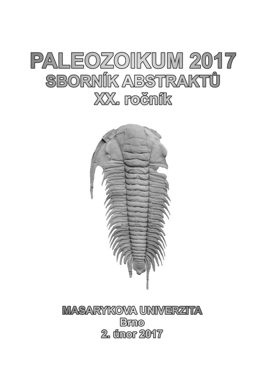 Obálka pro Paleozoikum 2017. Sborník abstraktů