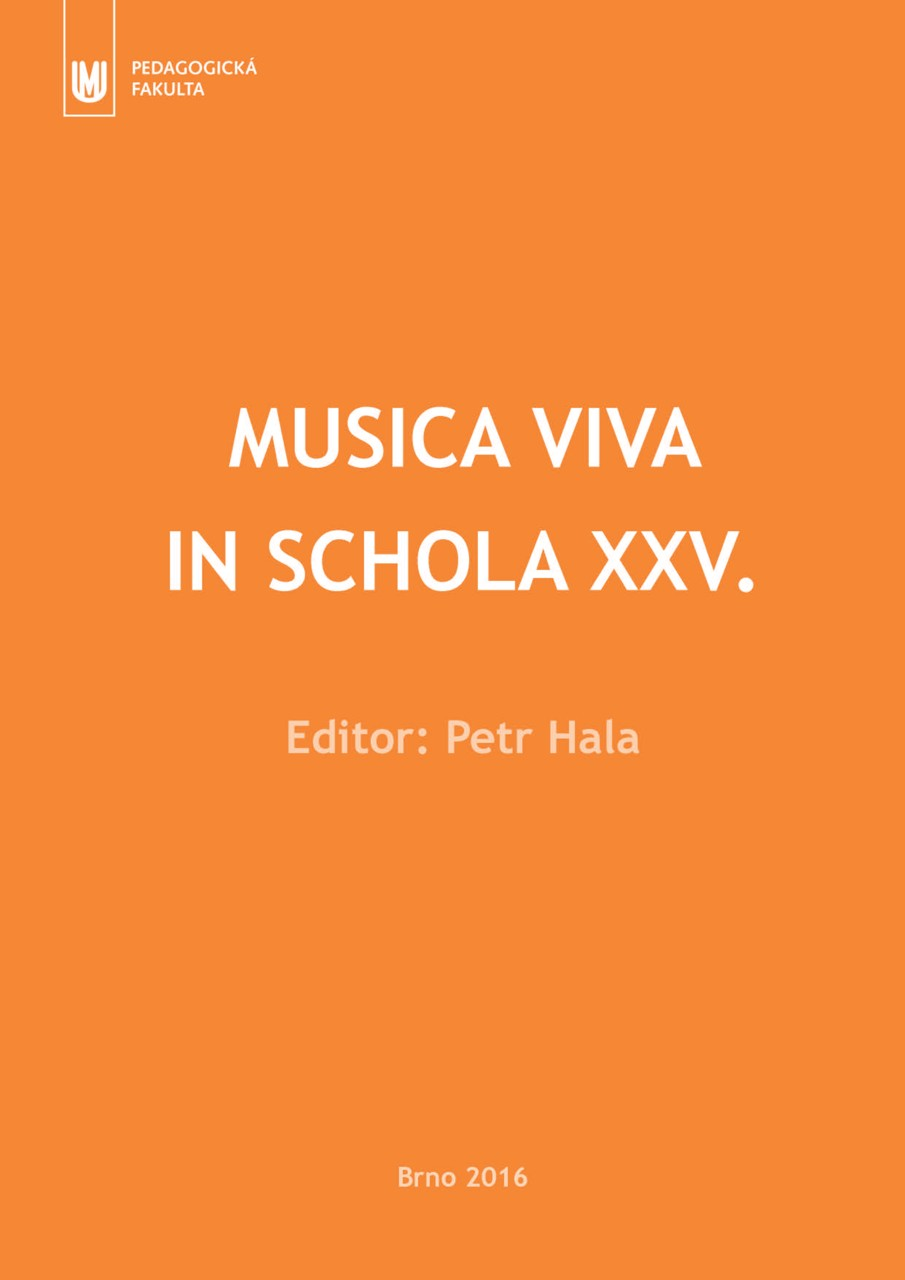 Obálka pro Musica viva in schola XXV.