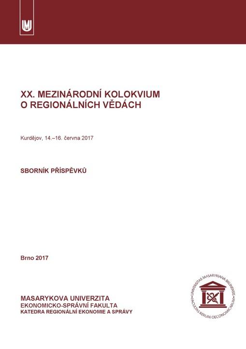Obálka pro XX. mezinárodní kolokvium o regionálních vědách: Sborník příspěvků
