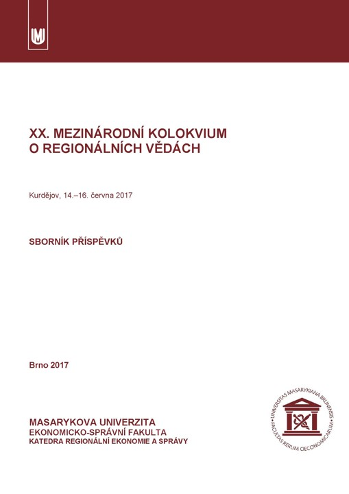 Obálka pro XX. mezinárodní kolokvium o regionálních vědách. Sborník příspěvků