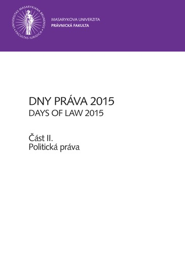 Obálka pro Dny práva 2015 – část II.. Politická práva