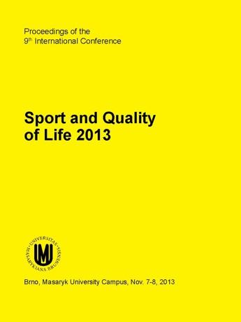 Obálka pro Sborník příspěvků na mezinárodní konferenci Sport a kvalita života 2013