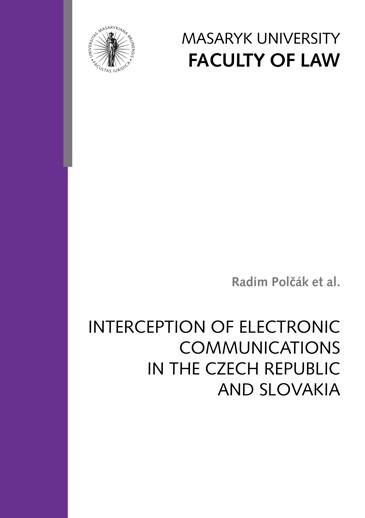 Obálka pro Interception of Electronic Communications in the Czech Republic and Slovakia