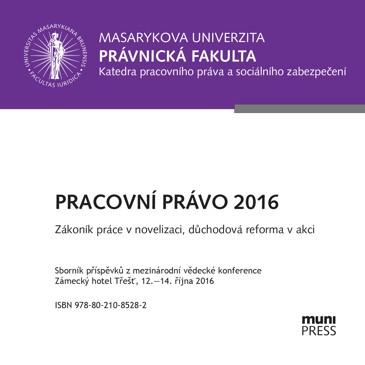 Obálka pro Pracovní právo 2016. Zákoník práce v novelizaci, důchodová reforma v akci
