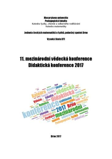 Obálka pro 11. mezinárodní vědecká conference Didaktická konference 2017. Sborník příspěvků